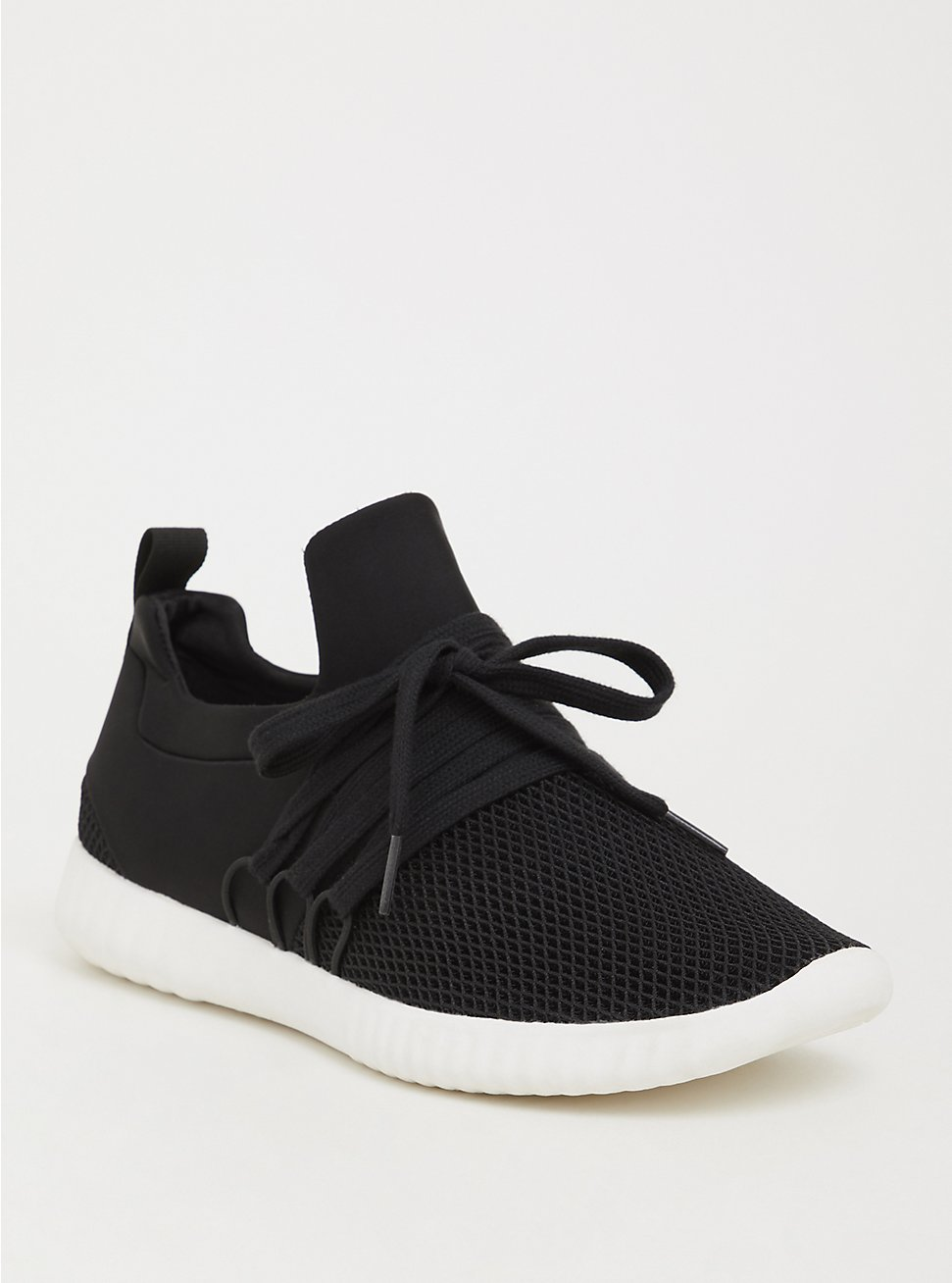 Black Nylon Mesh Sneaker (WW), BLACK, hi-res
