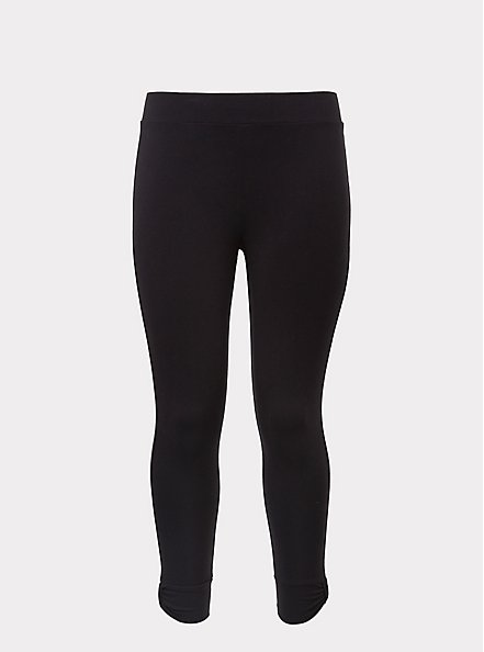 Crop Premium Legging - Cuffed Black, BLACK, hi-res