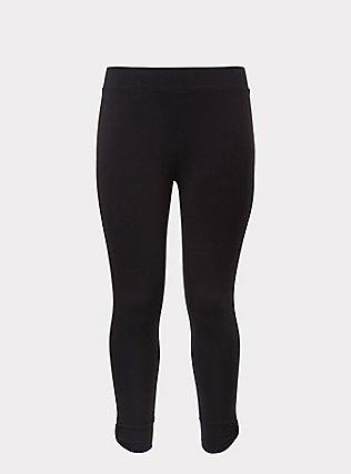 Crop Premium Legging - Cuffed Black, BLACK, flat