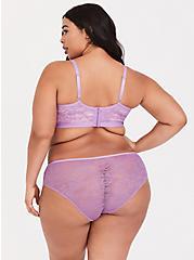 Plus Size Lavender Purple Sheer Lace Hipster Panty, LAVENDER, alternate