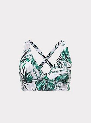 White Palm Wireless Triangle Bikini Top, MULTI, flat