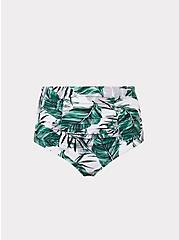 White Palm High Waist Cheeky Swim Bottom, MULTI, hi-res