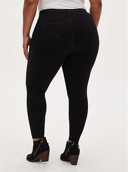 Sky High Skinny Jean - Premium Stretch Black, BLACK, alternate