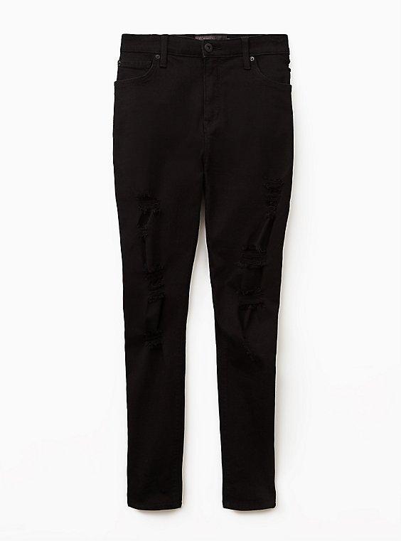 Sky High Skinny Jean - Premium Stretch Black, , flat