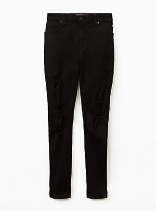 Sky High Skinny Jean - Premium Stretch Black, BLACK, flat