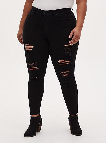 Sky High Skinny Jean - Premium Stretch Black, BLACK, hi-res