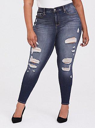 Sky High Skinny Jean - Premium Stretch Medium Wash, BLUE SPELL, hi-res