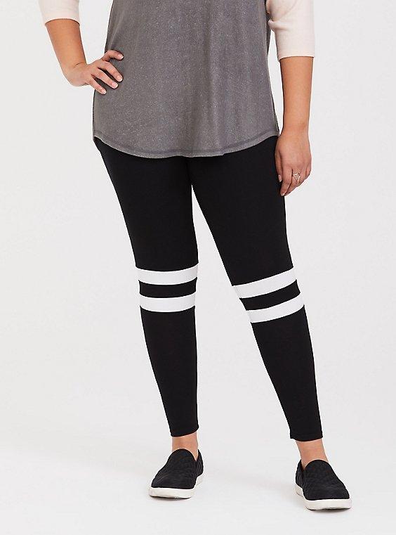 Premium Legging - Varsity Stripe Black, , hi-res