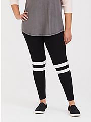 Plus Size Premium Legging - Varsity Stripe Black, BLACK, hi-res