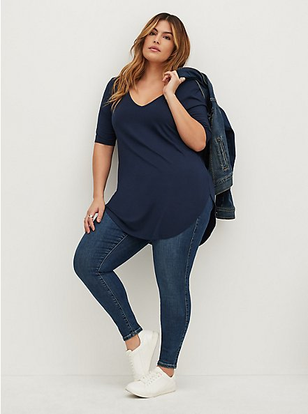Plus Size Favorite Tunic - Super Soft Navy, VIVID BLUE, alternate