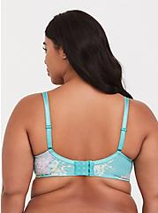Turquoise Floral Cotton Lightly Lined T-Shirt Bra, FLORAL DISPERSE, alternate