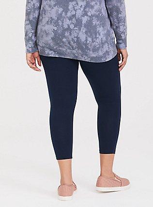 Crop Premium Legging - Dark Navy, VIVID BLUE, alternate