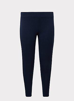 Crop Premium Legging - Dark Navy, VIVID BLUE, flat