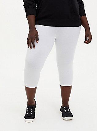 Bright White Capri Legging, WHITE, alternate