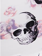 Plus Size Skull Floral Front Clasp 360° Back Smoothing™ T-Shirt Bra, WATERCOLOR SKULLS, alternate