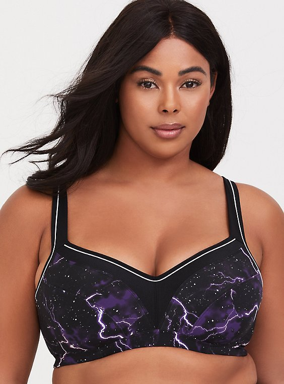 Lightning Microfiber Underwire Lightly Lined Sports Bra, , hi-res