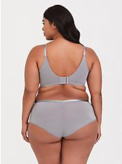Grey 360° Back Smoothing™ Push-Up T-Shirt Bra, SILVER FILIGREE, alternate