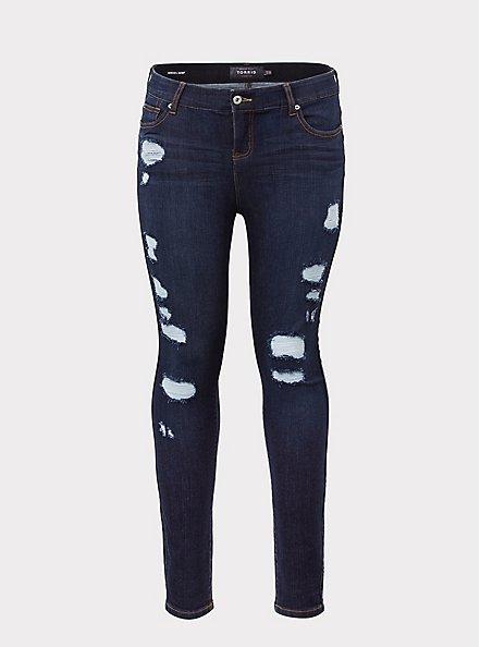 Bombshell Skinny Jean - Premium Stretch Dark Wash, BRIDGEWATER, hi-res