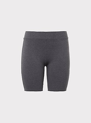 Charcoal Grey Bike Short, GREY, flat