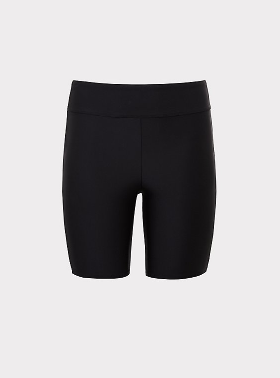Black Swim Bike Short, , flat
