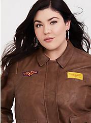 Her Universe Captain Marvel Bomber Jacket, BROWN, alternate