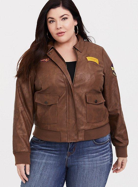 Her Universe Captain Marvel Bomber Jacket, , hi-res