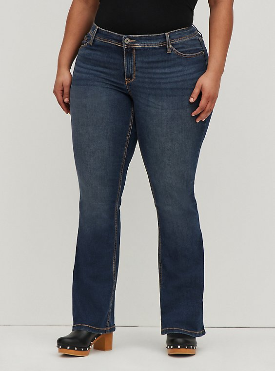 Mid Rise Slim Boot Jean - Luxe Stretch Medium Wash, , hi-res