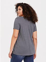 Disney Lady & the Tramp Grey Slim Fit Top, MEDIUM HEATHER GREY, alternate