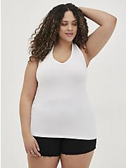 White Foxy Halter Top, BRIGHT WHITE, alternate