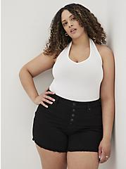 White Foxy Halter Top, BRIGHT WHITE, hi-res