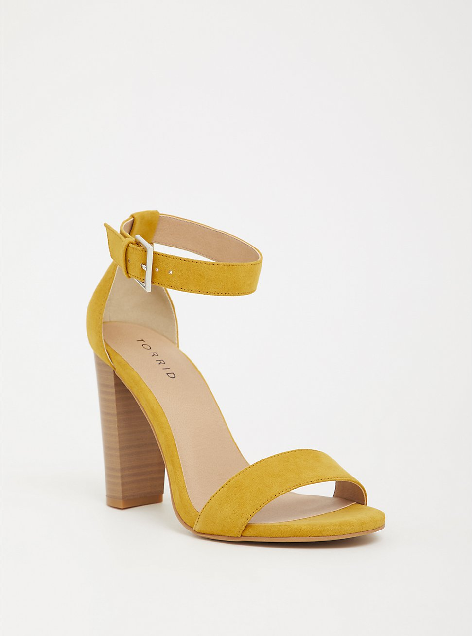 Mustard Ankle Strap Heel (WW), YELLOW, hi-res