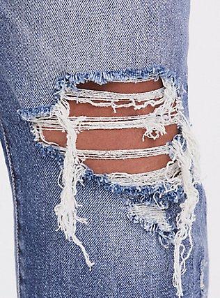 High Rise Straight Jean - Medium Wash, BLUE CHILL, alternate