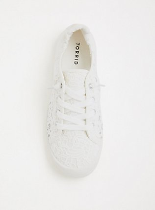 Ivory Crochet Scrunch Sneaker (WW), IVORY, alternate