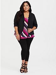 Plus Size Sophie - Raspberry Pink & Multi Stripe Chiffon Swing Cami, MULTI, alternate