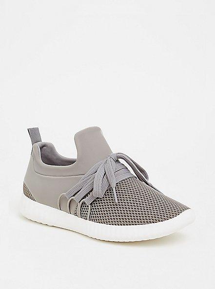 Grey Mesh Sneaker (WW), GREY, hi-res