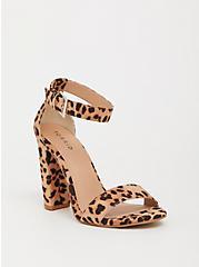 Leopard Ankle Strap Block Heel Sandal (WW), ANIMAL, hi-res