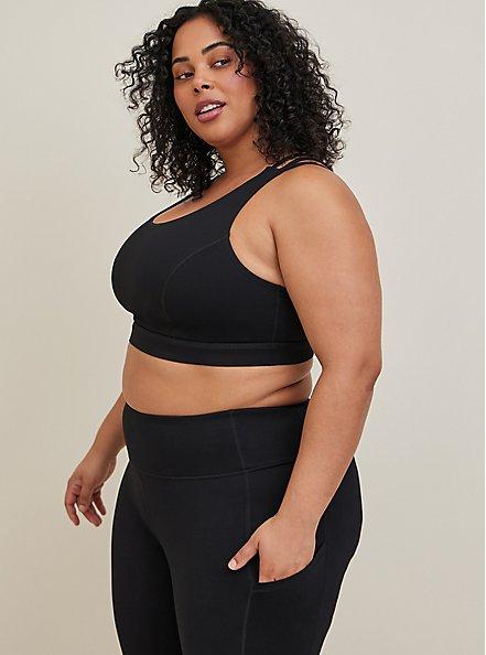 Black Wicking Full Length Active Legging with Pockets, DEEP BLACK, alternate