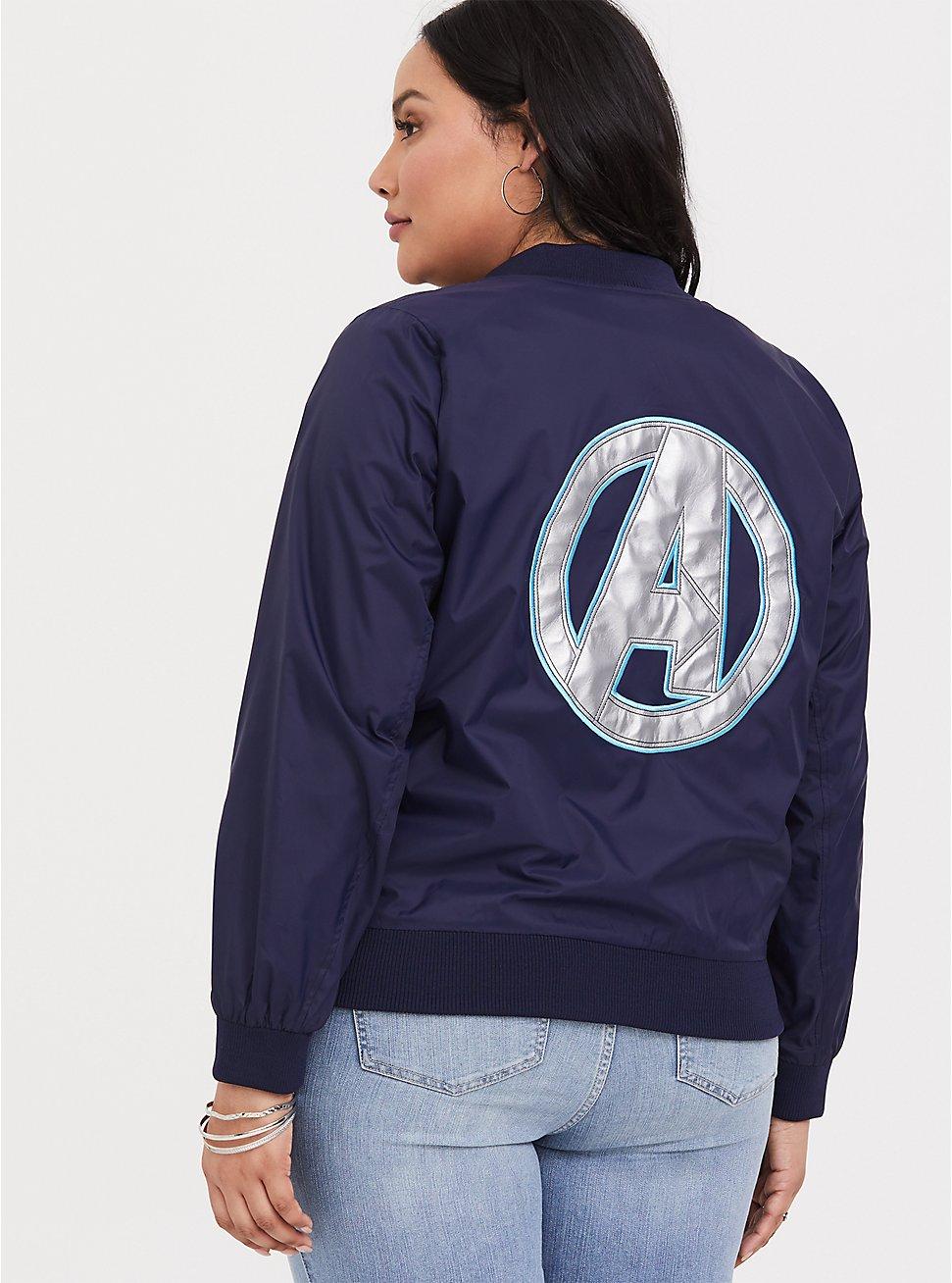 Her Universe Marvel Avengers Endgame Bomber Jacket, BROWN, hi-res