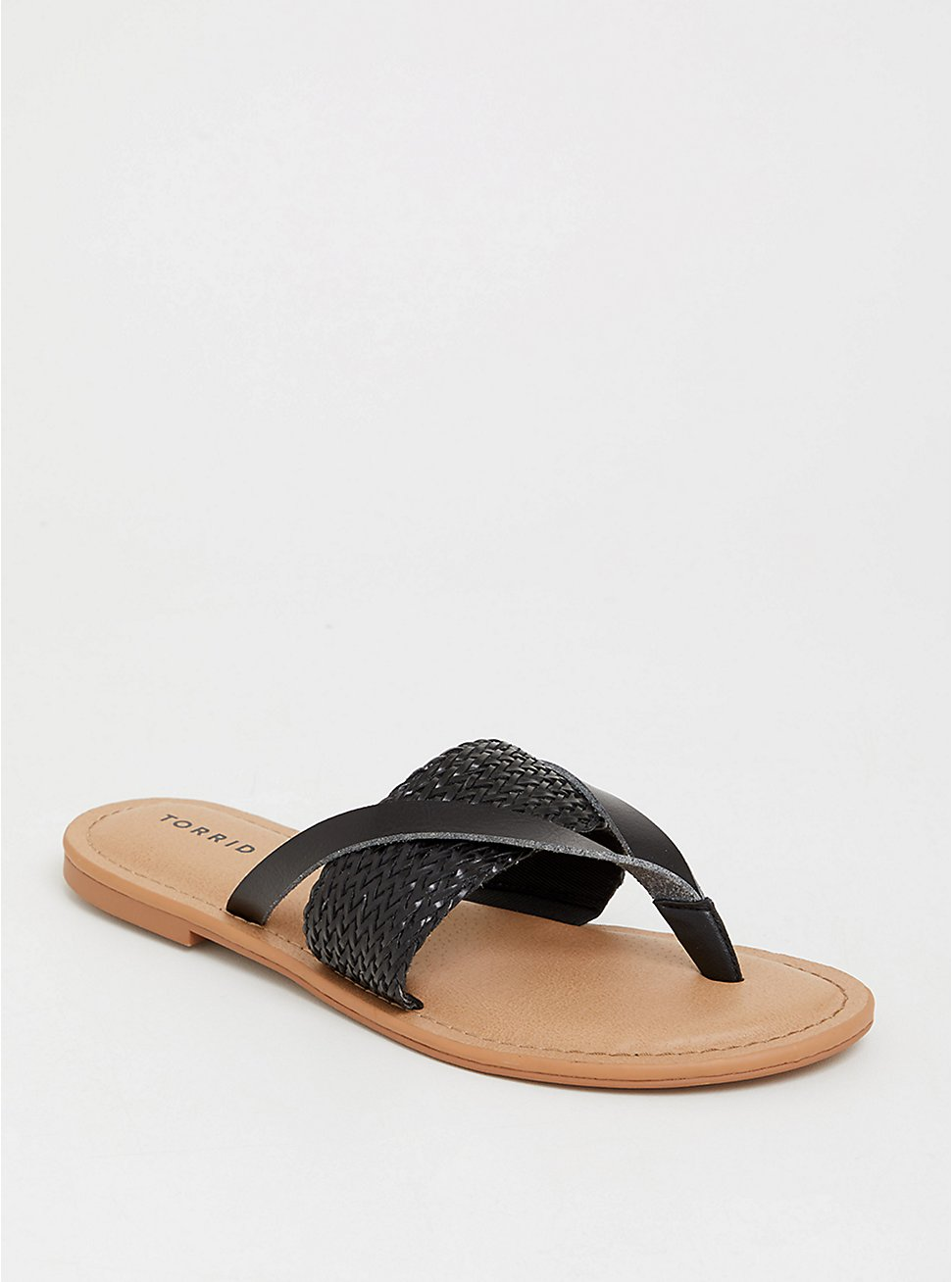 Black Woven Flip Flop (WW), BLACK, hi-res