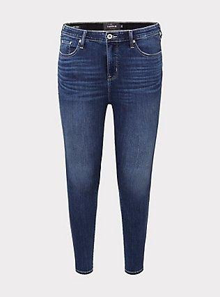 Plus Size Sky High Skinny Jean - Super Soft Medium Wash, COOL BREEZE, flat