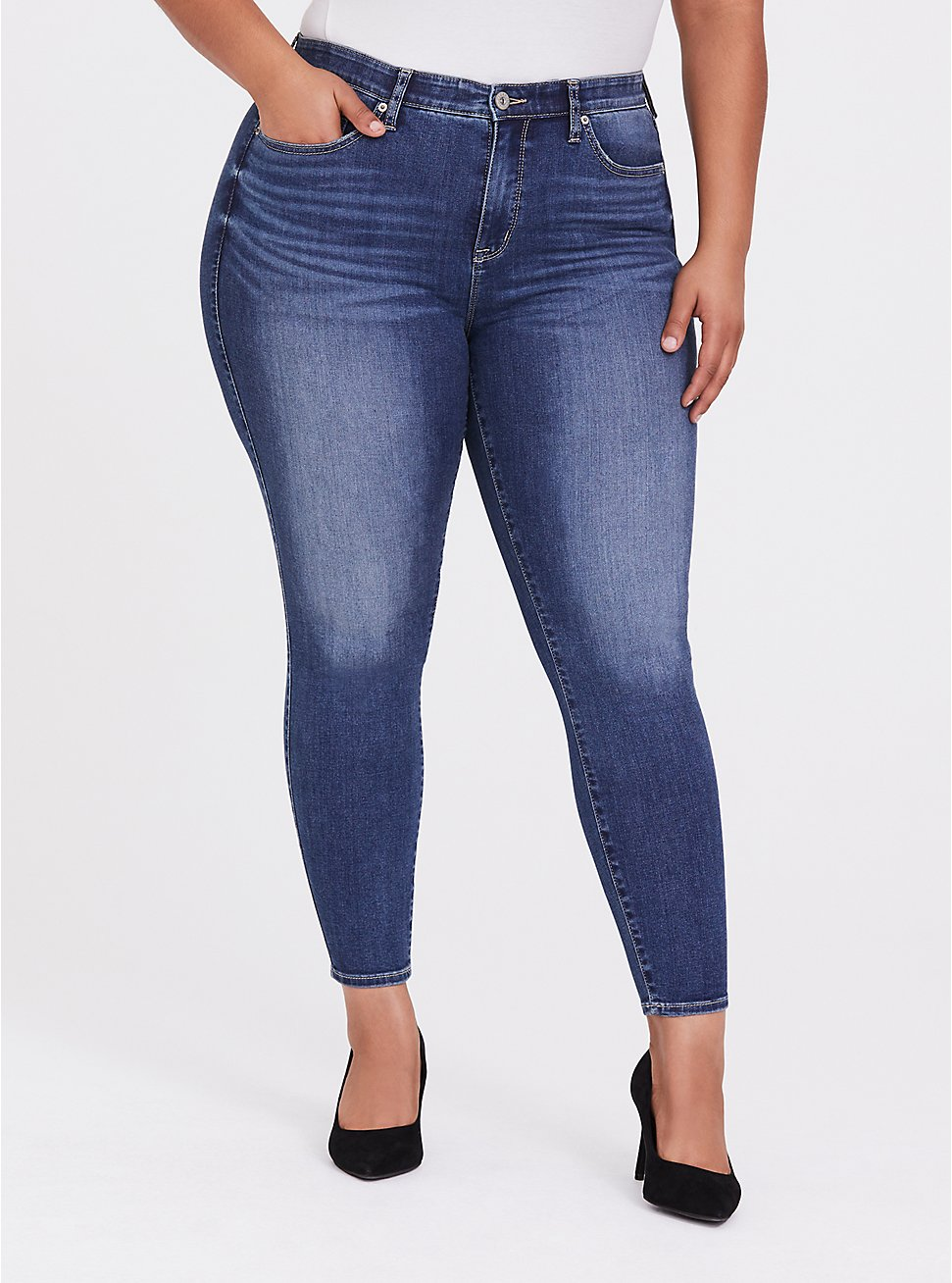 Sky High Skinny Jean - Super Soft Medium Wash, , hi-res