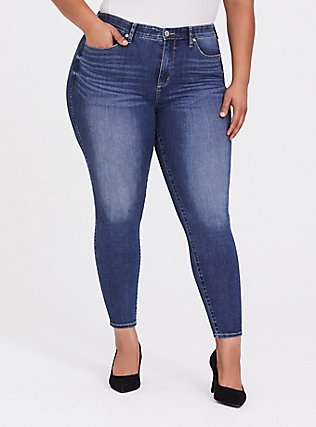 Sky High Skinny Jean - Super Soft Stretch Medium Wash, COOL BREEZE, hi-res