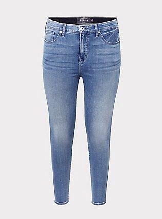 Plus Size Sky High Skinny Jean - Super Soft Light Wash, MEDIUM BLUE WASH, flat