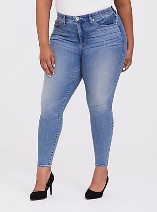 Sky High Skinny Jean - Super Soft Stretch Light Wash, MEDIUM BLUE WASH, hi-res