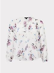 Ivory Floral Chiffon Kimono, LOVELY DAY, hi-res