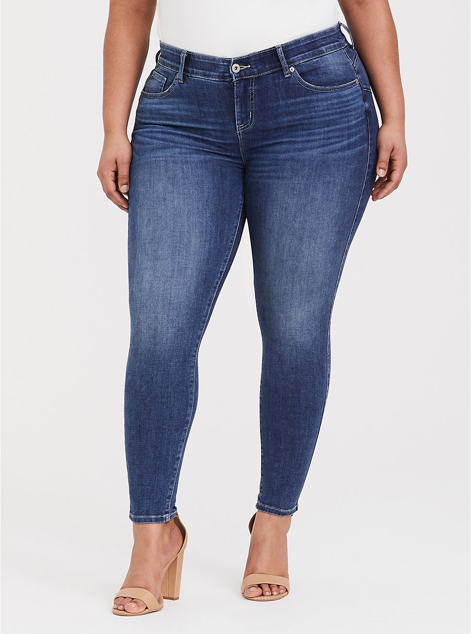 Bombshell Skinny Jean - Comfort Stretch Medium Wash, COOL BREEZE, hi-res