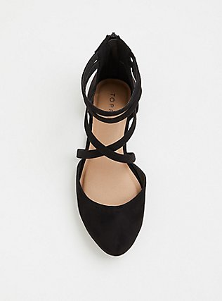 Black Crisscross Flat (WW), BLACK, alternate