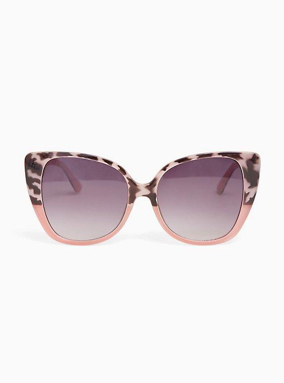 Plus Size Blush Cat Eye Sunglasses, , hi-res