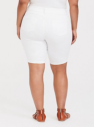 Jegging Bermuda Short - Super Stretch White, WHITE, alternate