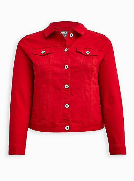 Ruby Red Denim Trucker Jacket, RUBY TUESDAY, hi-res